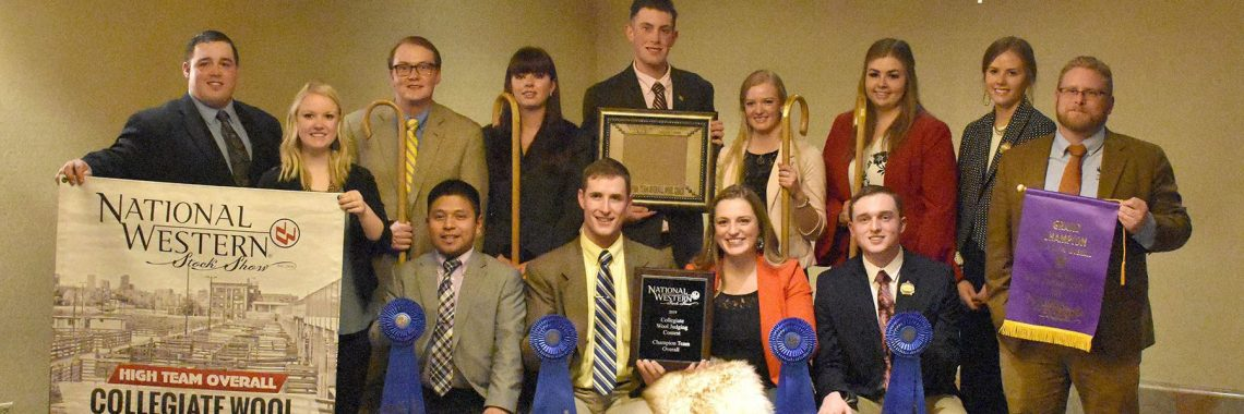 Members of the champion UW wool judging team