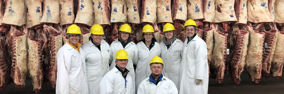 Students in meat locker