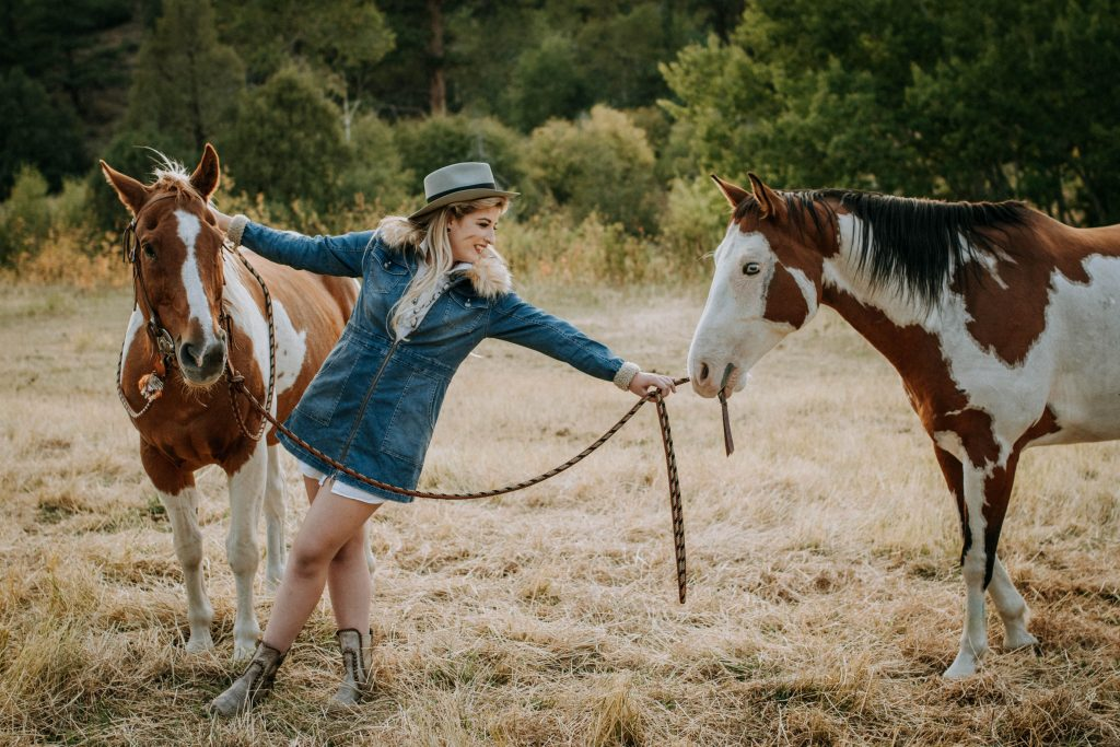 Girl with horses