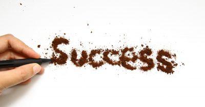 Success written