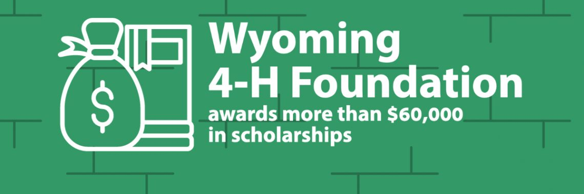 Green background, Wyoming 4-H Foundation