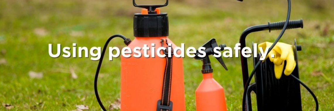 Orange pesticide sprayers