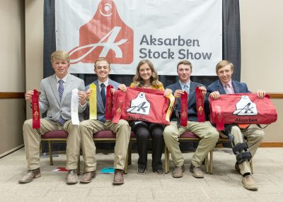 Photograph of youths with awards